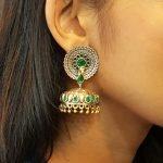 Peacock Earrings with 2 tone plating #3013
