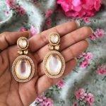 Vintage Kundan earrings #3062