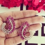 Quill Ear studs in Rose Gold Plating #3011